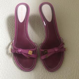 ルイヴィトン(LOUIS VUITTON)のルイヴィトン LOUIS VUITTON 靴 ミュール(ミュール)