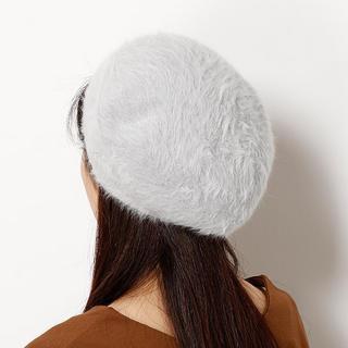 イング(INGNI)のINGNI: アンゴラベレー帽 ベージュ (ハンチング/ベレー帽)