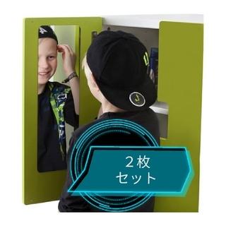 イケア(IKEA)の【samv様専用】軽くて割れない鏡 IKEA 2枚 ミラー 粘着式 軽量(日用品/生活雑貨)