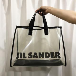 ジルサンダー(Jil Sander)の定価9万円●新品正規品☆JIL SANDER☆PVC クリア トートバッグ ロゴ(トートバッグ)