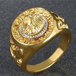 S925 獅子彫刻 リング サイズ18号/1点限定品(リング(指輪))