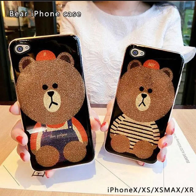 iphonex ケース 首から下げる 皮 / iphoneケース ベア iphoneXS XR XSMAX 韓国 韓流★の通販 by CHANEL725's shop|ラクマ