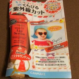キャンメイク(CANMAKE)の【新品】CANMAKE デイ&UV リップセラム クリアレッド(リップケア/リップクリーム)