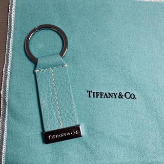 Tiffany & Co. - ティファニー  Tステッチ キーリング(牛革)
