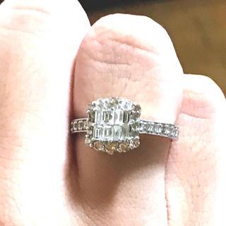【大幅値下げ】ダイヤモンド 合計1.0ct リング 15号(リング(指輪))