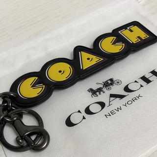 コーチ(COACH)の★限定★COACH コーチ パックマンコラボ チャーム 保存袋付(キーホルダー)