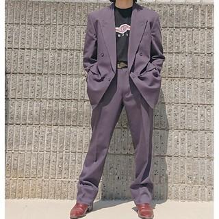JOHN LAWRENCE SULLIVAN - 本日限定値下げ中  littlebig風パープルセットアップ  ダブルスーツ
