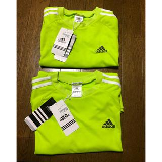 アディダス(adidas)の未着用!  アディダス  半袖ドライメッシュTシャツ  Mサイズ・Lサイズセット(ウェア)