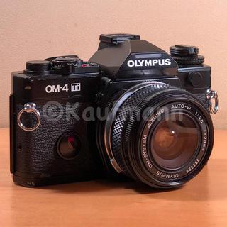 オリンパス(OLYMPUS)のオリンパスOM-4Ti黒+OM28mmF3.5セット 撮影確認済み(フィルムカメラ)