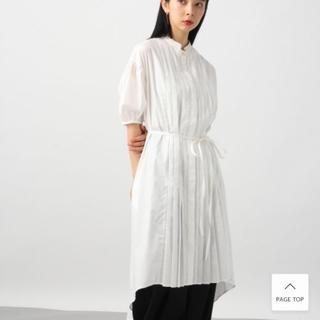ハレ(HARE)のHARE タックシャツワンピース5分袖(ひざ丈ワンピース)