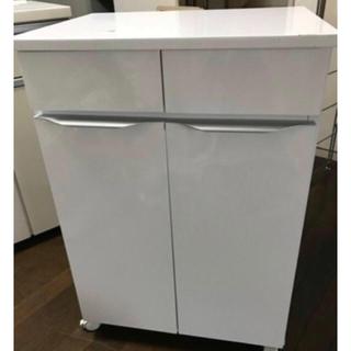 ニトリ - ニトリ ペールカウンター ゴミ箱収納 鏡面仕上げホワイト