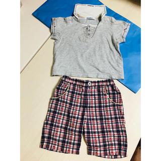 ファミリア(familiar)のfamiliar セーラーTシャツ&ハーフパンツ 2点セット ファミリア ズボン(パンツ/スパッツ)
