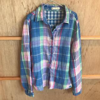 ThreeFourTime - 変形 チェックシャツ レディース フリーサイズ スリーフォータイム