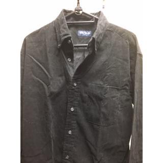 ユニクロ(UNIQLO)のユニクロ / コーデュロイシャツ(黒) メンズMサイズ(シャツ)