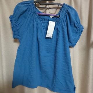ジーユー(GU)の新品、未使用 GU 半袖カットソー ブルー(カットソー(半袖/袖なし))