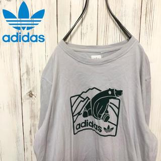 アディダス(adidas)の【希少】90s アディダスオリジナルス ロゴプリントロングTシャツ 白タグ(Tシャツ/カットソー(七分/長袖))