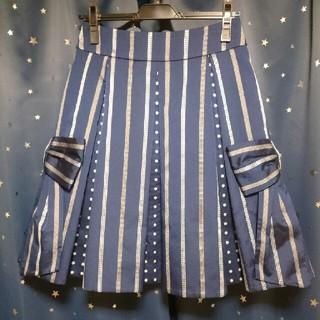 ジェーンマープル(JaneMarple)の5月26日(日)までの販売★Stripe Ribbon Jacquardスカート(ひざ丈スカート)