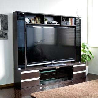 高品質◎60インチ対応 リビング壁面収納 テレビ台 ゲート型 180cm幅