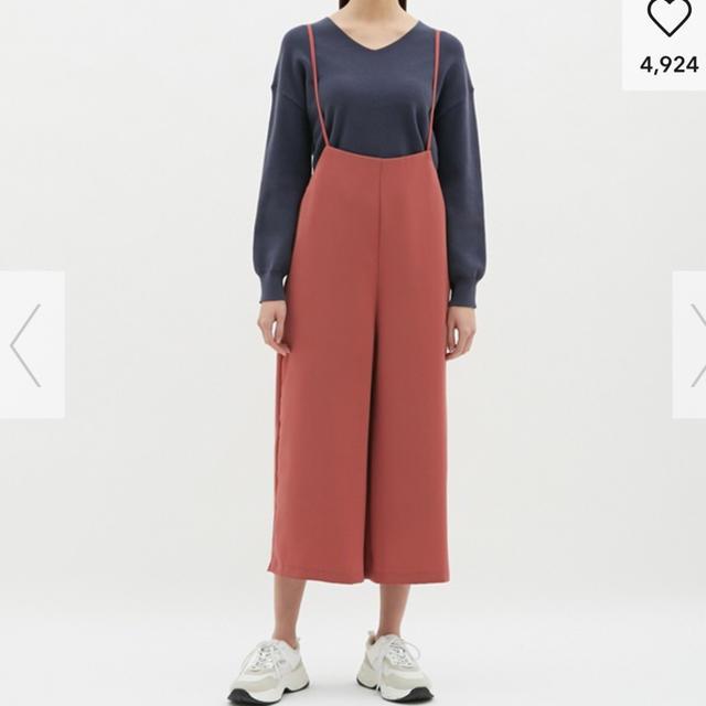 GU(ジーユー)のGU☆サロペット ワイドパンツ XL レディースのパンツ(オールインワン)の商品写真