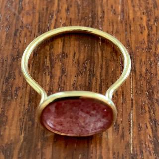 ストロベリークウォーツ 18金リング(リング(指輪))