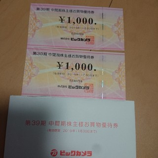 ビックカメラ株主優待券(ショッピング)