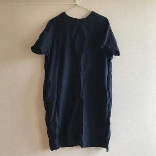 MUJI (無印良品) - MUJI フレンチリネン 洗いざらし半袖ワンピース