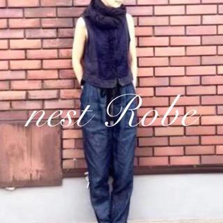 nest Robe - ネストローブ nest Robe リネン ブロッキング ベスト