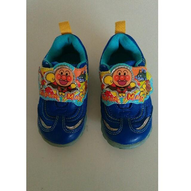 アンパンマン(アンパンマン)のねえ様専用 アンパンマンスニーカー(⚈ ̍̑⚈͜ ̍̑⚈)記名なし キッズ/ベビー/マタニティのベビー靴/シューズ(~14cm)(スニーカー)の商品写真