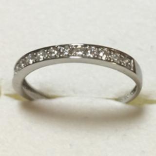 ハーフエタニティ プラチナ 950 ダイヤモンドリング  10.5号(リング(指輪))