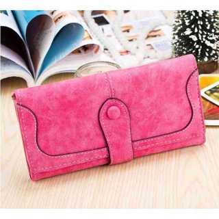 長財布 レディース スエード かわいい おしゃれ 女性 スウェード 人気 ピンク(財布)