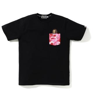 アベイシングエイプ(A BATHING APE)のBAPE A BATHING APE ABC POCKET TEE Tシャツ 黒(Tシャツ/カットソー(半袖/袖なし))