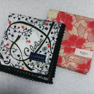 クレイサス(CLATHAS)のクレイサス&INED☆ハンカチ2枚セット(ハンカチ)