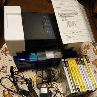 プレイステーション2(PlayStation2)のプレステ2  本体、アダプター、取説、メモリーカード、ソフト、箱(家庭用ゲーム本体)