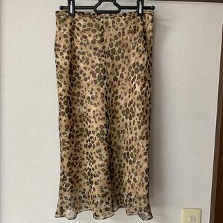 ボッシュ(BOSCH)のボッシュ ロングスカート38 Mサイズ レオパード シフォン(ロングスカート)