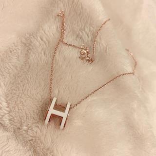 エルメス(Hermes)のポップh ピンクゴールド(ネックレス)