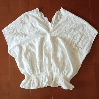 ジーユー(GU)のGU レーストップス(カットソー(半袖/袖なし))