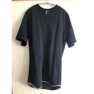 ヨウジヤマモト(Yohji Yamamoto)のyohji yamamoto pour homme ジップカットソー(Tシャツ/カットソー(半袖/袖なし))