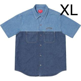 Supreme - 【XL】SUPREME 2-Tone Denim S/S Shirt ブルー
