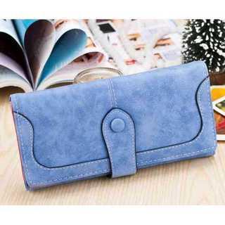 長財布 レディース スエード かわいい スウェード ライトブルー 青 水色(財布)