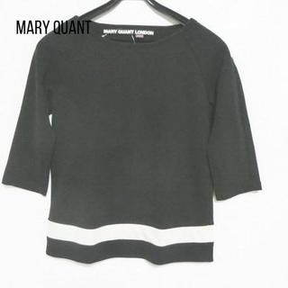 MARY QUANT - マリークワント 七分袖カットソー サイズM レディース 黒×白