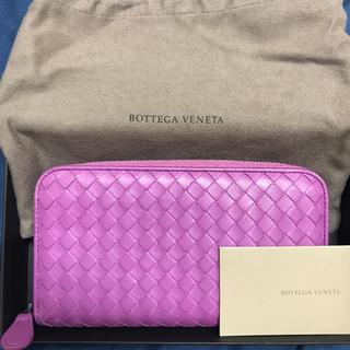 ボッテガヴェネタ(Bottega Veneta)のボッテガ❤️ピンク長財布(財布)