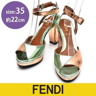 フェンディ(FENDI)のフェンディ アンクルストラップ サンダル 35(約22cm)(サンダル)