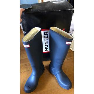ハンター(HUNTER)のハンターロングレインブーツネイビー(レインブーツ/長靴)