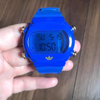 アディダス(adidas)のアディダス キャンディウォッチ 青 堂本剛(腕時計(デジタル))
