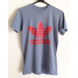 アディダス(adidas)のadidas「ビンテージ ロゴ Tシャツ」made in USA アディダス(Tシャツ/カットソー(半袖/袖なし))