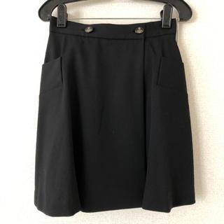 ヴィヴィアンウエストウッド(Vivienne Westwood)のヴィヴィアンウエストウッド vivienne westwood 巻きスカート 黒(ミニスカート)
