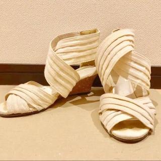 salus - ウェッジソール サンダル 白 ホワイト