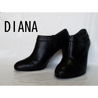 ダイアナ(DIANA)のダイアナ ショートブーツ ヒールパンプス 黒  24cm(ブーツ)