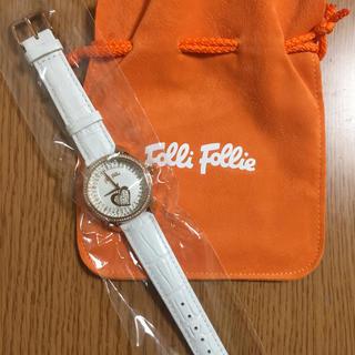 Folli Follie - ★新品未使用★ フォリフォリ 腕時計☆ホワイト 最終値下げ