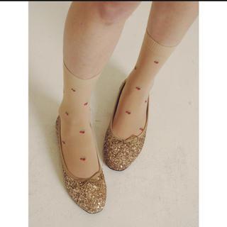 エディットフォールル(EDIT.FOR LULU)のglitter gold ballet shoes(バレエシューズ)